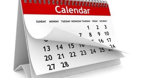 Календарный план на 2019 год