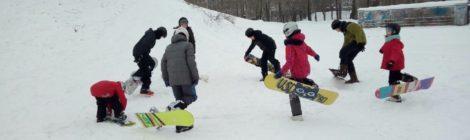 Первое занятие на снегу!
